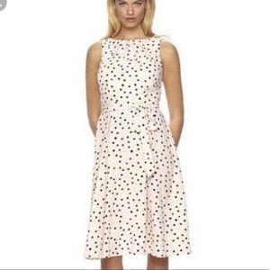 Elle Pink Polka Dot Midi Dress Size 14 NWT
